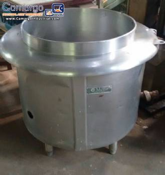 Cooker for food with 150 liters