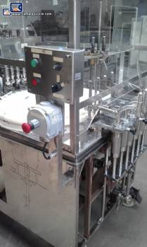 Rotary filling machine with 6 stainless steel spouts