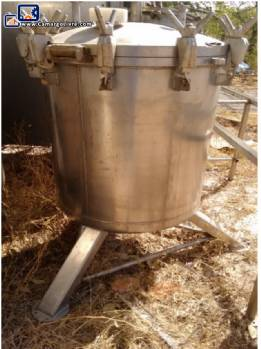 Set of stainless steel tanks