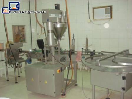 Line for filling powders in jars Masipack