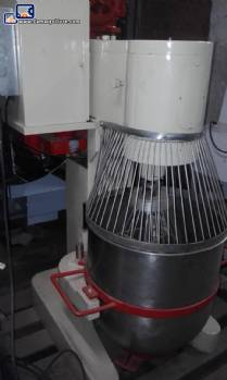 Industrial mixer is engaged with various speeds