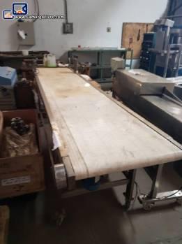 Conveyor belt in stainless steel