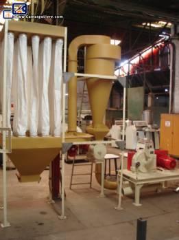 Sugar grinding system and filter Netzsch