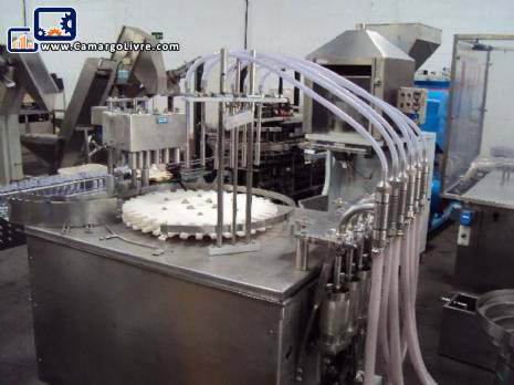 Filling / Capping 6 semiautomatic pistons 150 ml for liquid - N